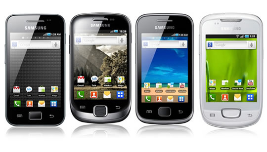 Nuevo Samsung Galaxy Ace, Galaxy Fit, Galaxy Gio y Galaxy Mini