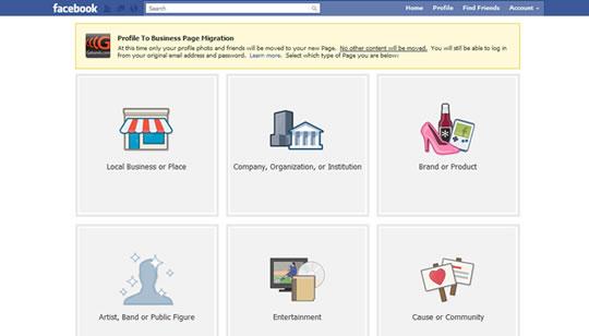Conversion Facebook Perfil a Pagina tecnologia