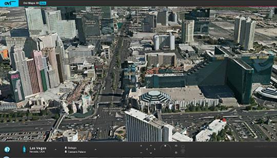 Nokia Ovi Maps 3D