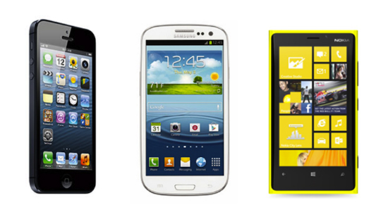 iPhone 5 vs Galaxy S3 vs Lumia 920
