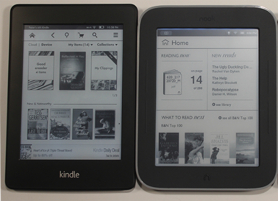 Kindle Paperwhite Nook GlowLight