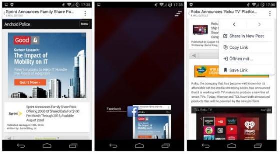 Facebook para Android pronto integrará su propio navegador